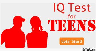 IQ Test for Teens 10 to 14 years old