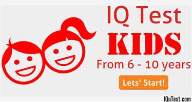 IQ Test for Kids from 6 – 10 years old