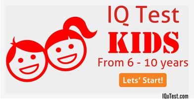 IQ Test for Kids from 6 - 10 years old - IQuTest com
