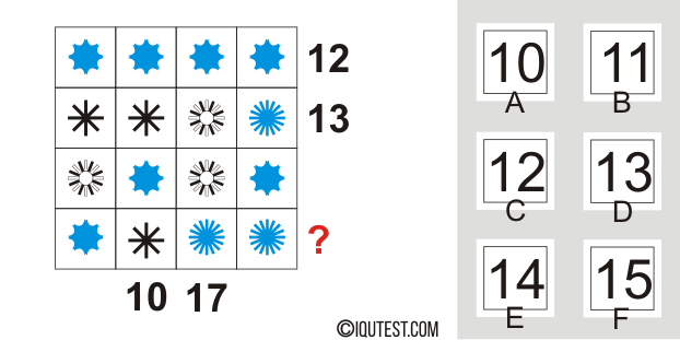 IQ Test - Example Question Series #3