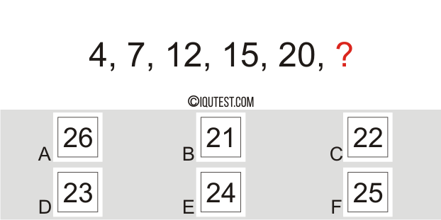 IQ Test - Example Question Numerical Test Number Series