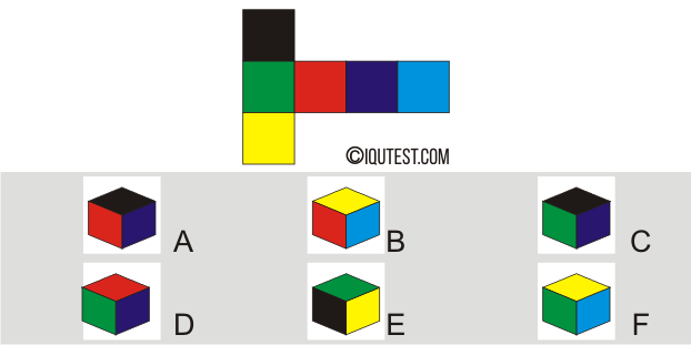 IQ Test - Example Question Spatial Test Paper Folding