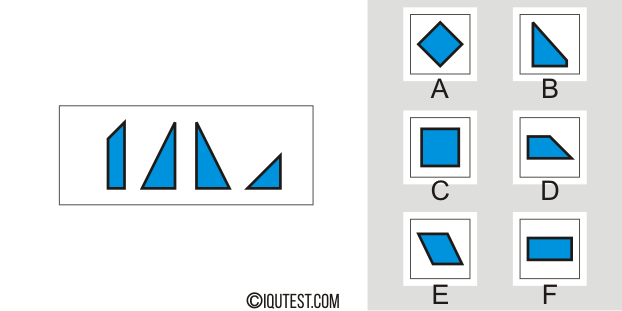 IQ Test - Example Question Spatial Test Pattern Matching