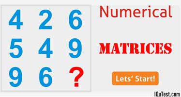 Numerical Test [Number Matrices]